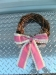 Pink Ribbon Wreath